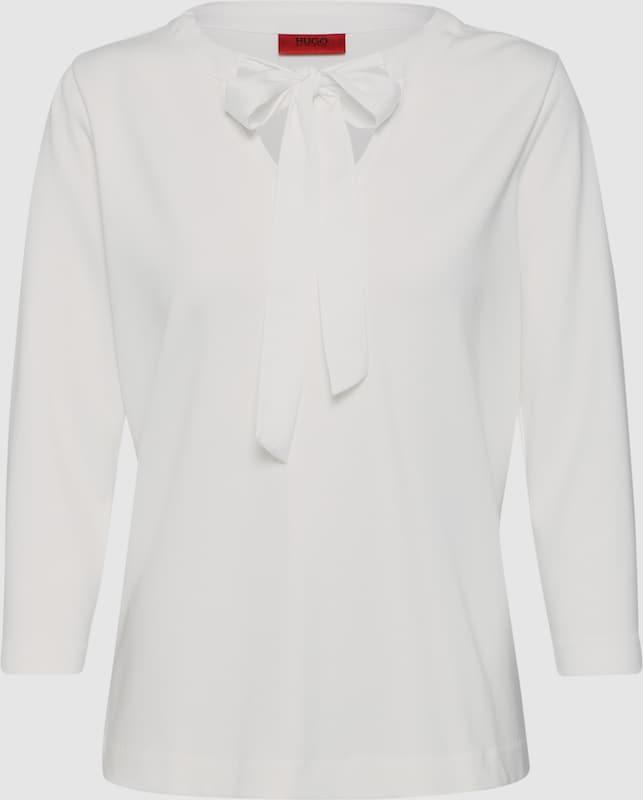 HUGO Shirt 'Daivas' in weiß  Neuer Aktionsrabatt