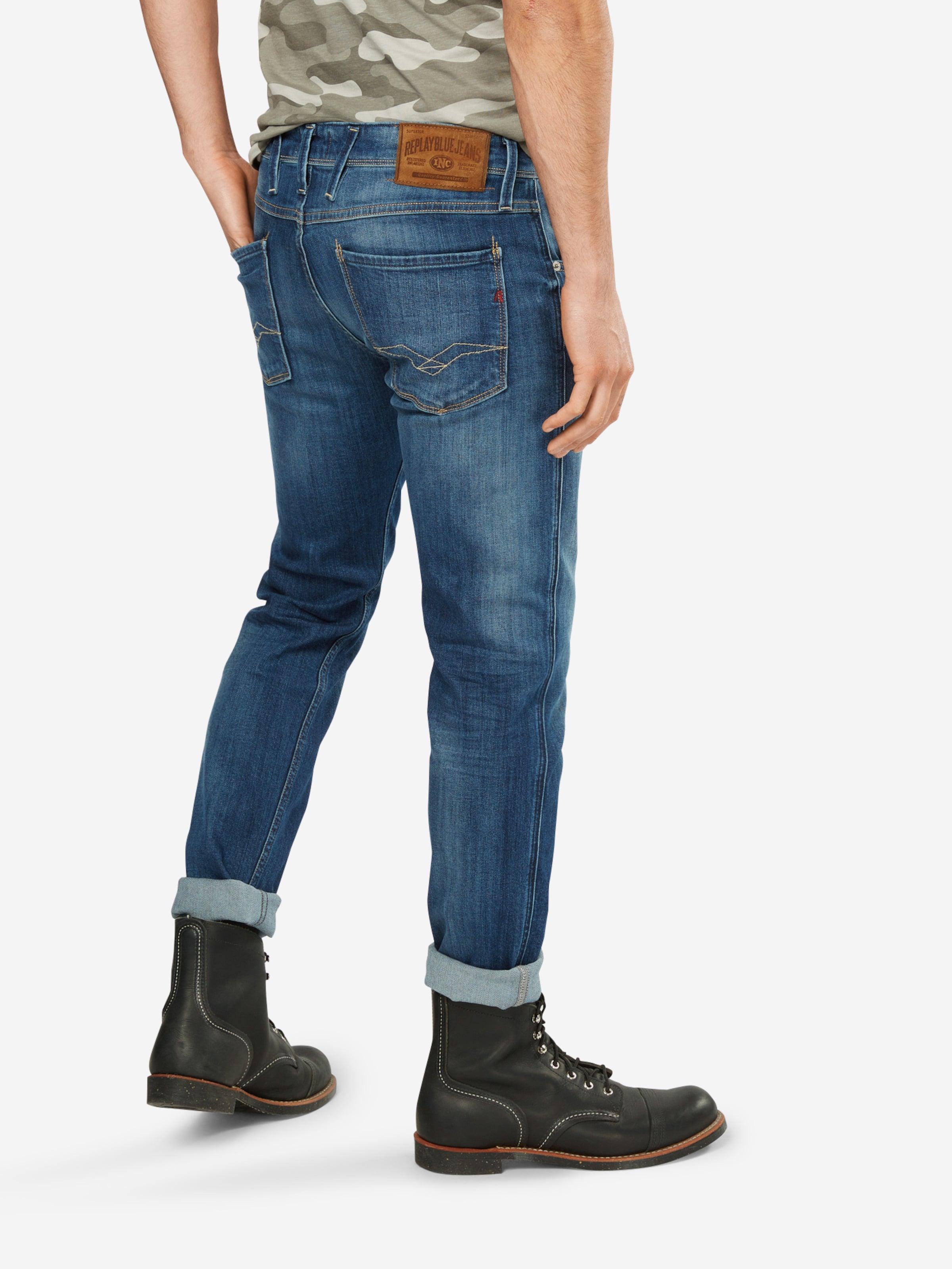 REPLAY Jeans im Used-Style 'Anbass' Rabatt Modische Modestil Neue Online-Verkauf 9IH9j