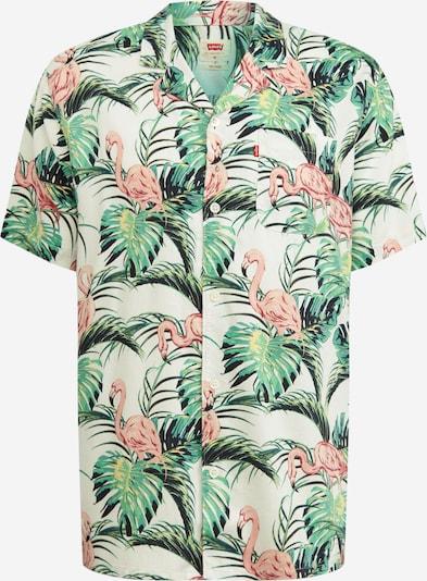 LEVI'S Hemd in grasgrün / pastellpink / offwhite, Produktansicht