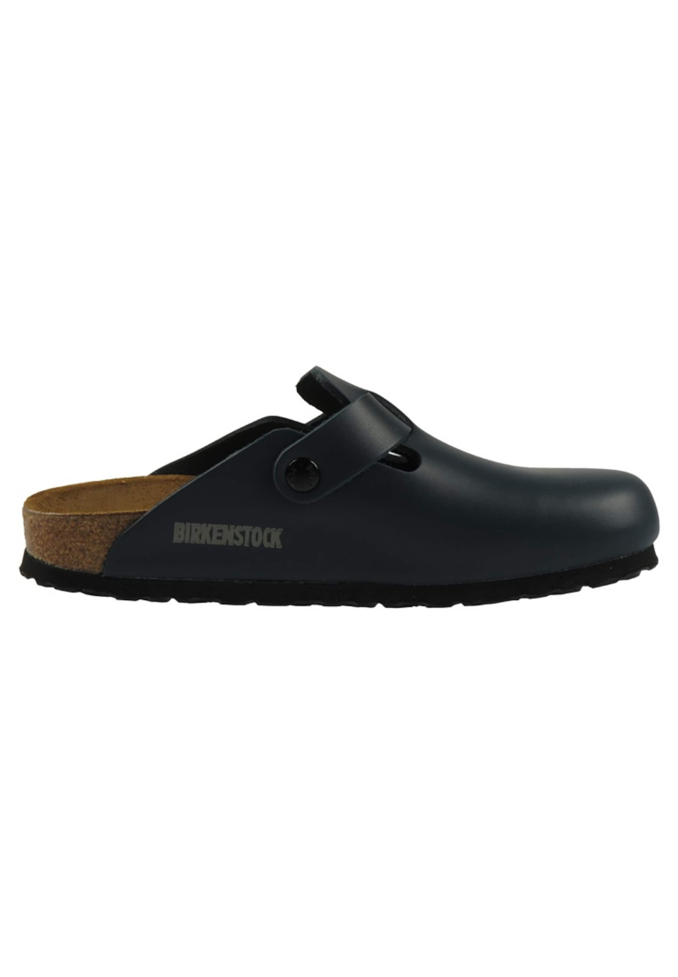 Birkenstock 'boston' Birkenstock Navy Clogs In Clogs In 'boston' Navy VpSUMqzG
