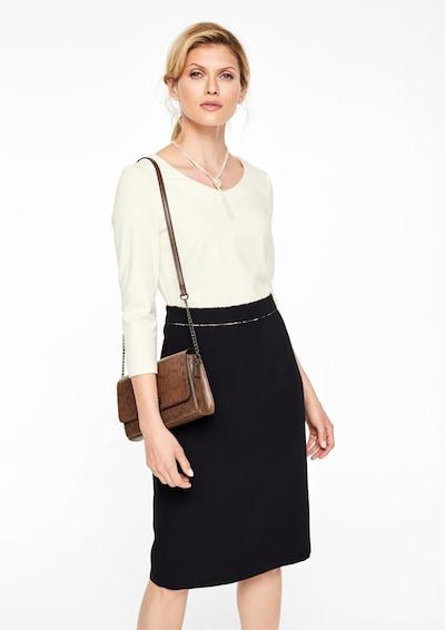 s.Oliver BLACK LABEL Kleid in schwarz / weiß, Modelansicht
