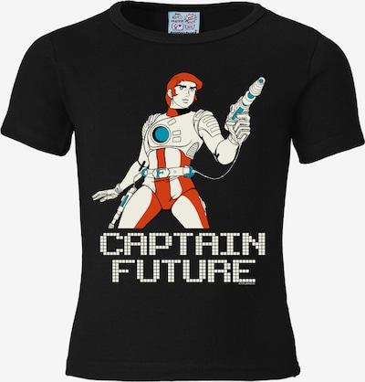 LOGOSHIRT T-Shirt 'Captain Future' in rauchblau / rostrot / schwarz, Produktansicht