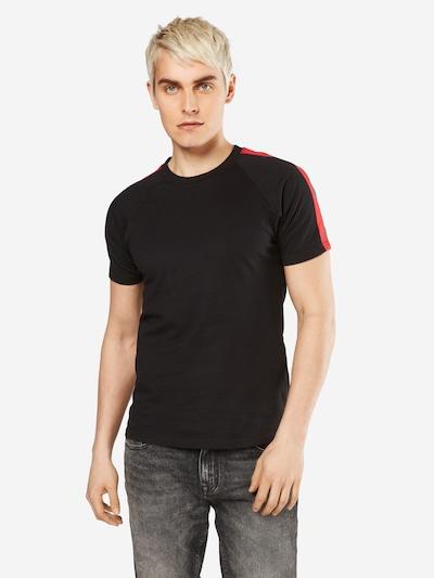 Urban Classics T-Shirt in grün / rot / schwarz: Frontalansicht