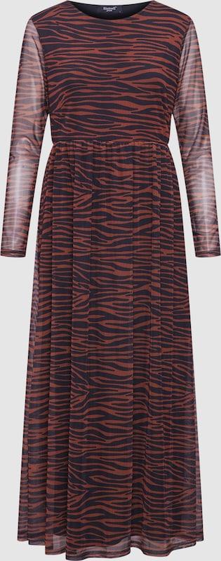 SISTERS POINT Kleid 'GIA-12' in karamell   schwarz  Mode neue Kleidung