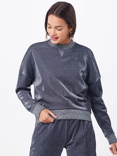 HUGO Sweat-shirt 'Naleina' en noir, Vue avec modèle