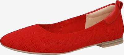 CAPRICE Ballerinas in rot, Produktansicht
