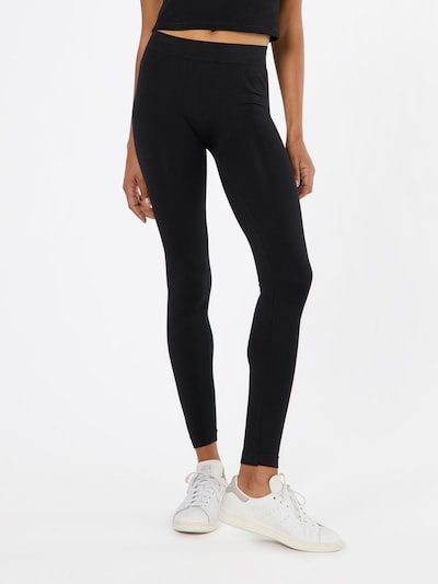 Urban Classics Unifarbene Leggings in schwarz, Modelansicht