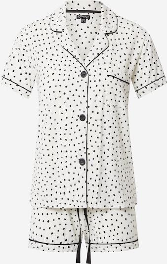 PJ Salvage Pyjama in schwarz / offwhite, Produktansicht