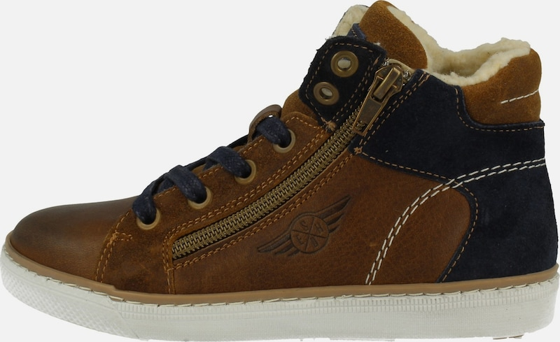BULLBOXER Sneaker ' AGM525E6L' in braun: Frontalansicht