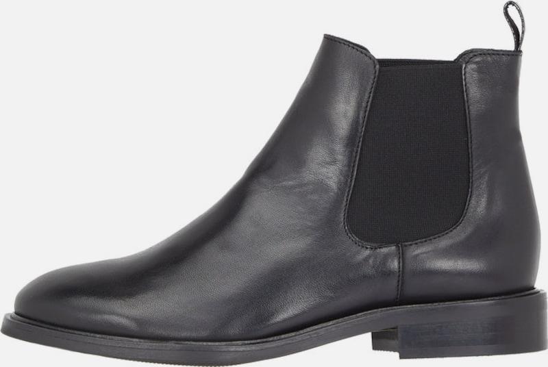 Bianco Leder Chelsea Ankle Boots