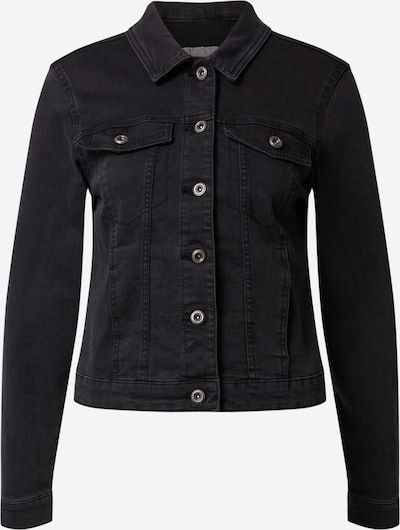 PIECES Jeansjacke  'PCAIA FITTED LS DNM JACKET LB/BLC BOX BC' in schwarz, Produktansicht