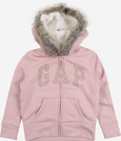GAP Sweatjacke in pink: Frontalansicht