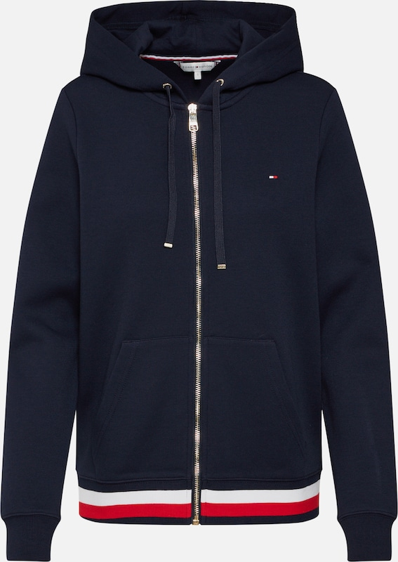 TOMMY HILFIGER Sweatjacke 'HERITAGE ZIP-THROUGH' in dunkelblau, Produktansicht