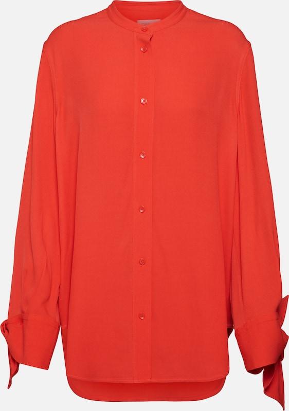 Chemisier Ls' Klein Calvin Blouse Rouge En 'draped Cuff CxBdQrWoe