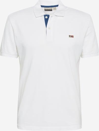 NAPAPIJRI Shirt 'Taly' in de kleur Lichtblauw / Wit, Productweergave