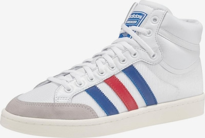 Sportbačiai su auliuku 'Americana Hi' iš ADIDAS ORIGINALS , spalva - mėlyna / pilka / raudona / balta, Prekių apžvalga