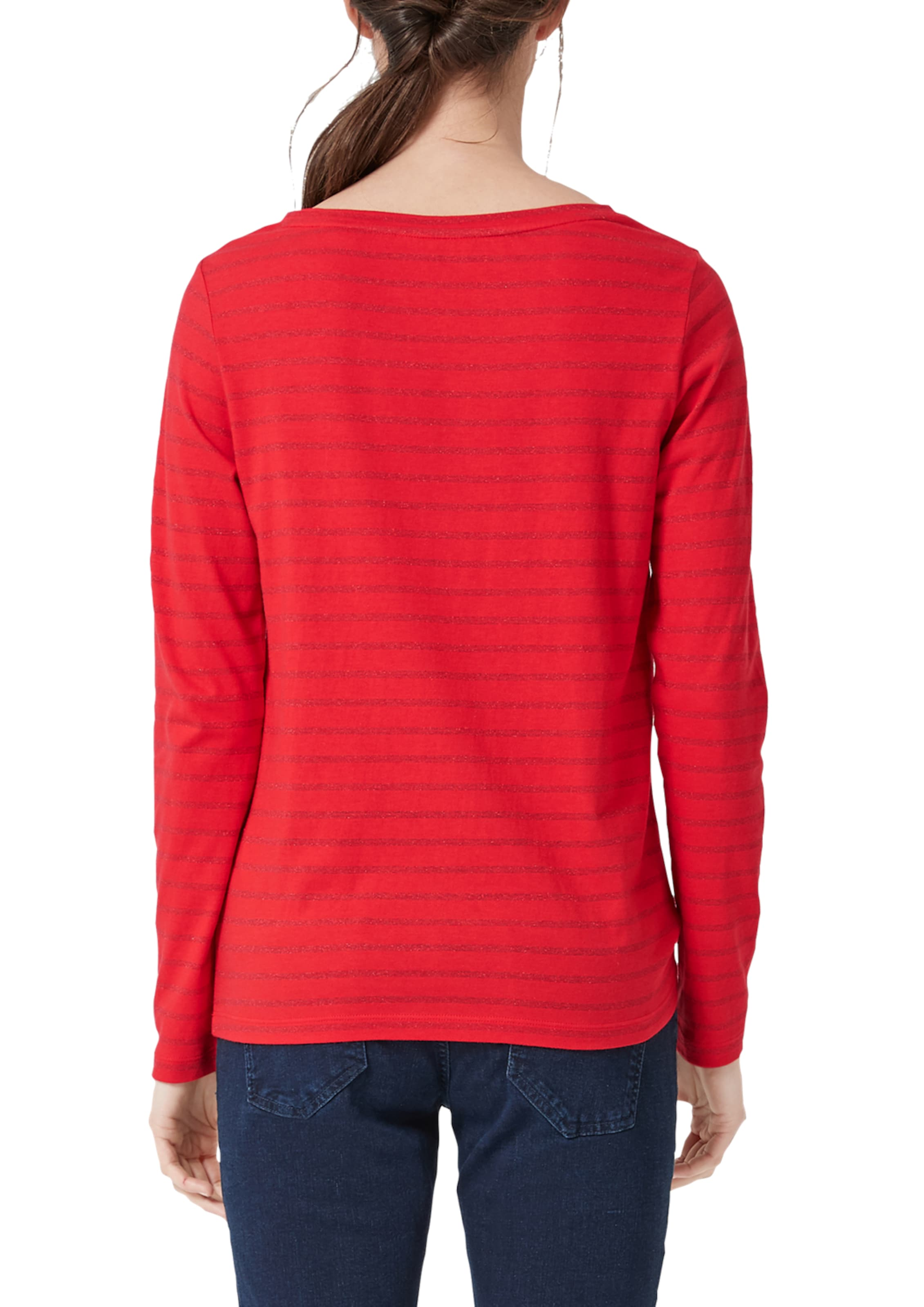 Label Red S oliver Longsleeve Rot In v0ONwnm8