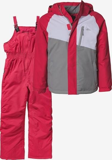 TRESPASS Skianzug 'Crawley' in hellgrau / rot / weiß, Produktansicht