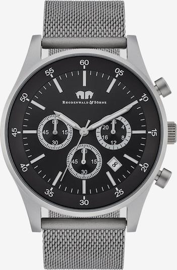 Rhodenwald & Söhne Chronograph in schwarz / silber, Produktansicht