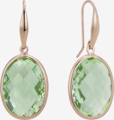 Zoccai Ohrhänger in rosegold / grün, Produktansicht