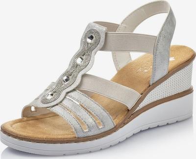 RIEKER Sandale in silber / weiß, Produktansicht