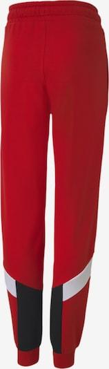 PUMA Trainingshose 'Iconic MCS' in rot / schwarz / weiß: Frontalansicht