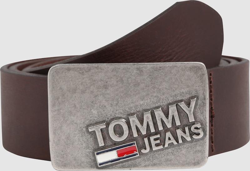 Tommy Jeans Ledergürtel mit Plakette