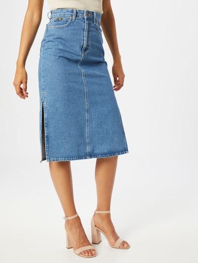 Lee Rok 'Thelma Skirt' in de kleur Blauw denim: Vooraanzicht