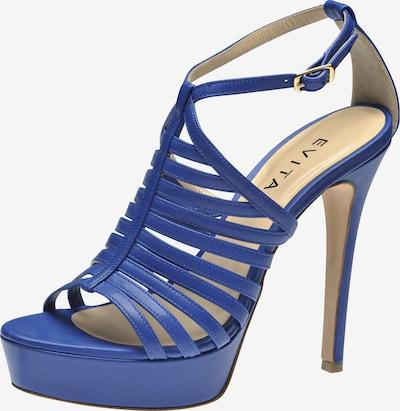 EVITA Damen Sandalette in blau: Frontalansicht