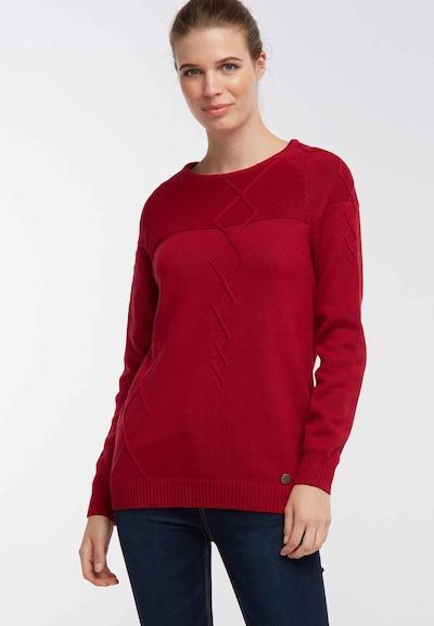 DREIMASTER Pullover in rot, Modelansicht