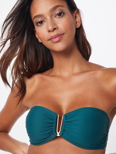 ABOUT YOU Bikini Top 'Melanie' in grün: Frontalansicht