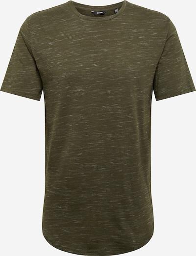 Only & Sons Shirt 'onsMATTY MELANGE LONGY TEE' in de kleur Donkergroen, Productweergave