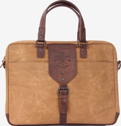 Presly & Sun Laptoptasche 'Caelen' in cognac / ocker, Produktansicht