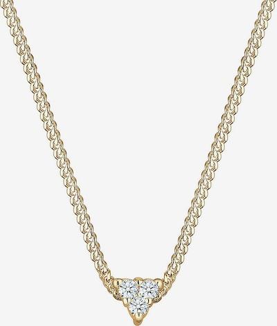 Diamore Halskette 'Dreieck, Geo' in gold / weiß, Produktansicht