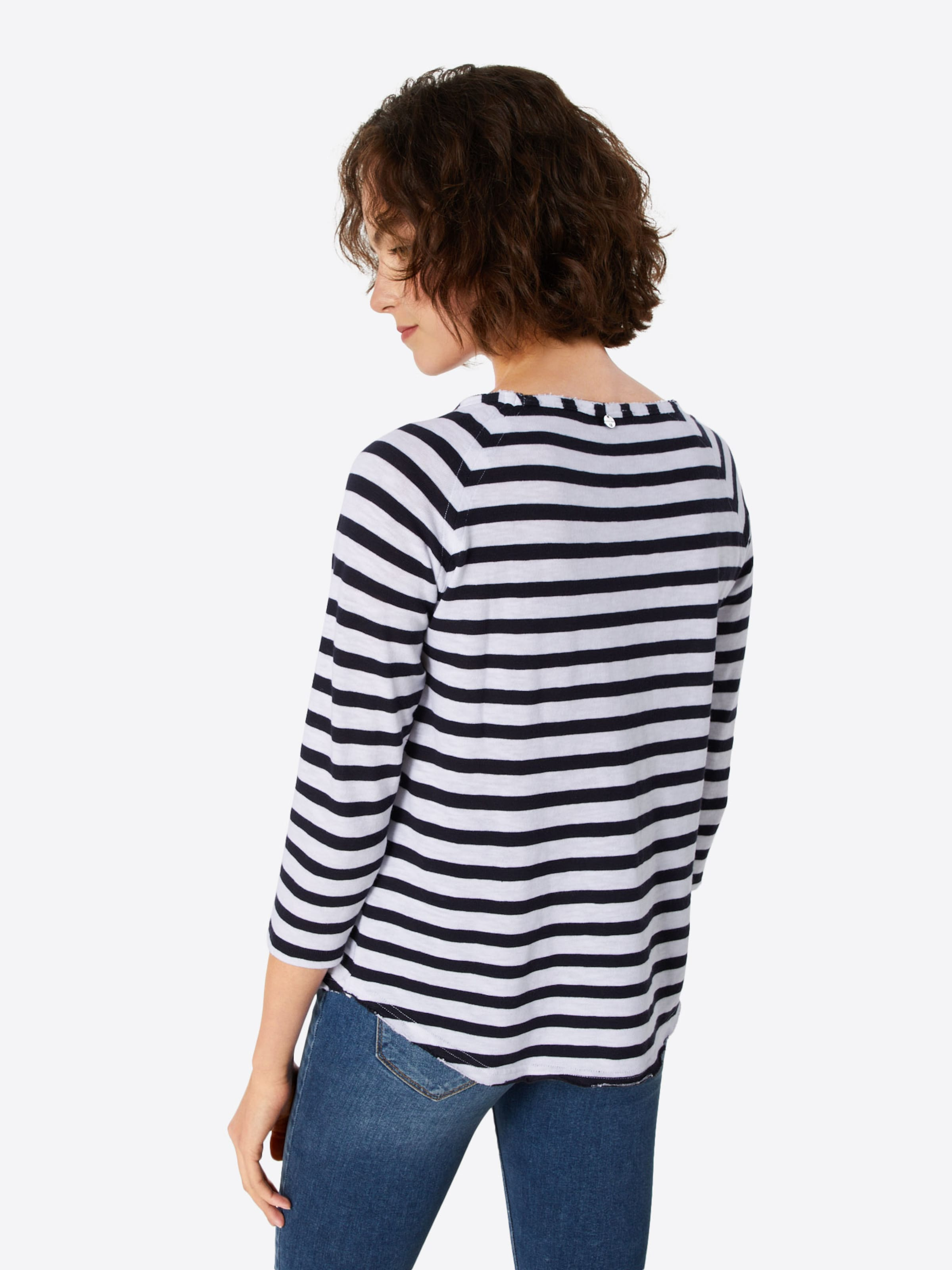 En BleuBlanc Longsleeve Striped' Richamp; shirt 'heavy Royal T Jersey 54jLARc3q
