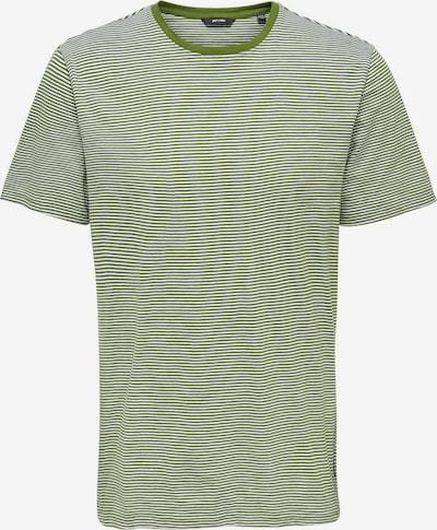 Only & Sons Einfarbiges T-Shirt in grün / weiß: Frontalansicht
