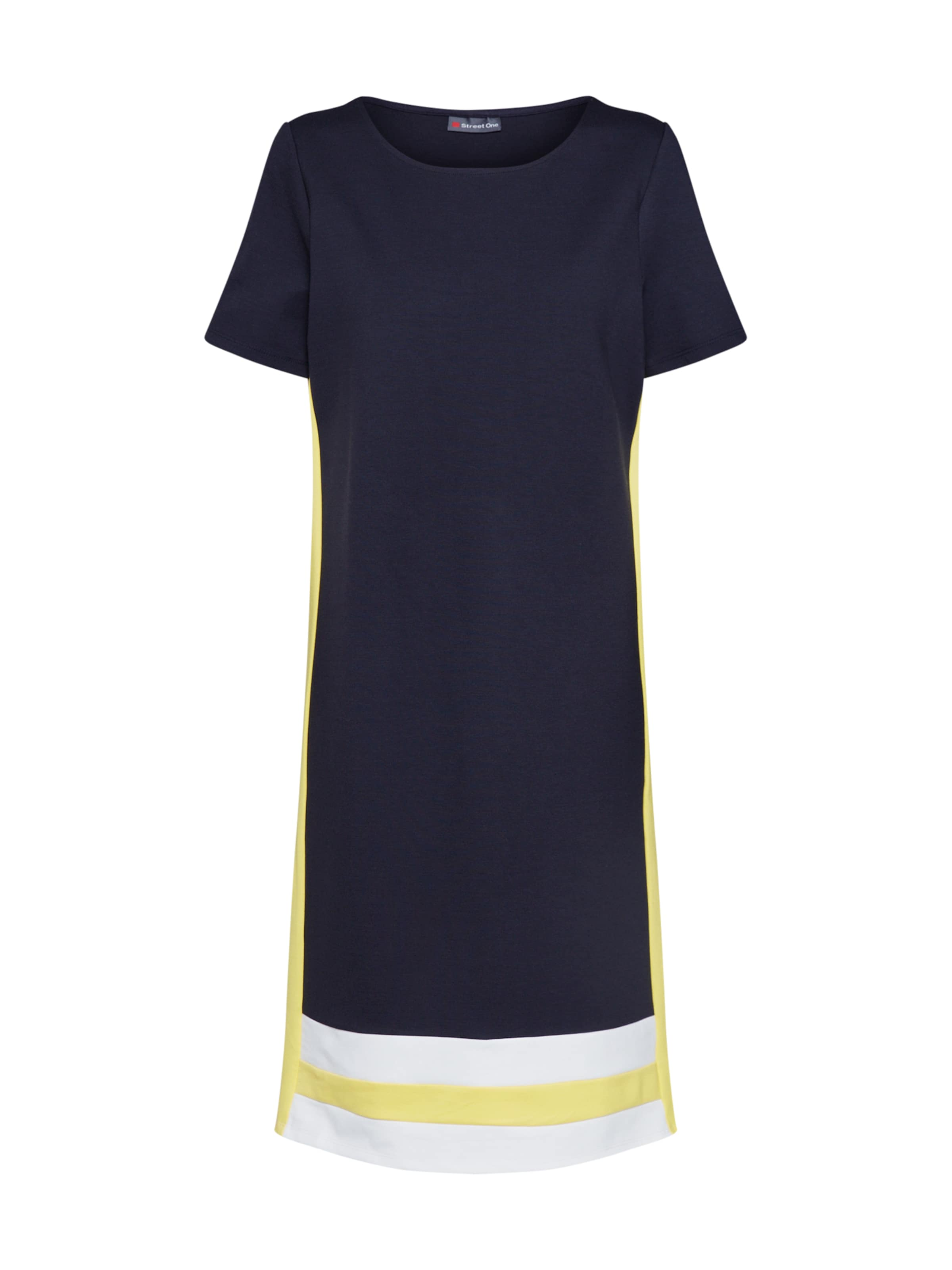 One Robe Bleu MarineJaune En Blanc Street ybf7Y6g