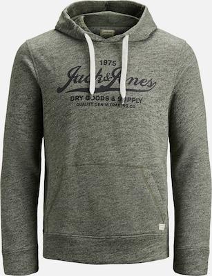 JACK & JONES Sweatshirt in Olijfgroen / Zwart