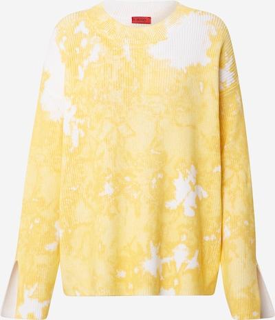 sárga / fehér HUGO Pulóver 'Senecy', Termék nézet