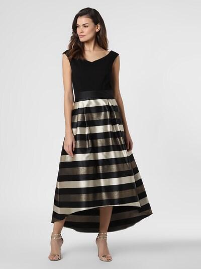 Marie Lund Abendkleid in gold / schwarz / perlweiß, Modelansicht