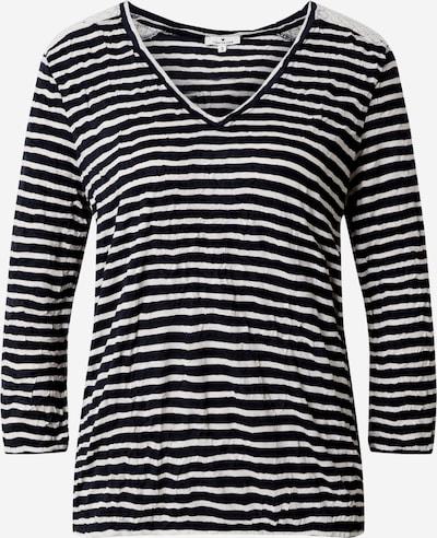 TOM TAILOR Shirt in navy / offwhite, Produktansicht