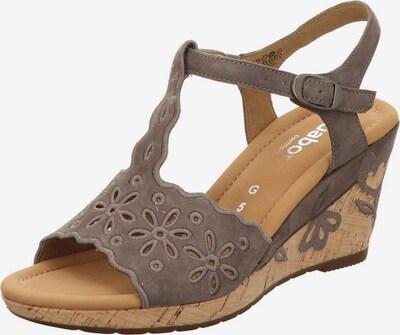 GABOR Sandalette in taupe, Produktansicht