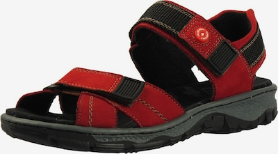 RIEKER Sandalen in rot / schwarz, Produktansicht