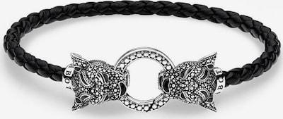 Thomas Sabo Armband 'Black Cat' in schwarz / silber, Produktansicht