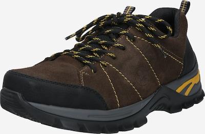 RIEKER Schnürschuh in dunkelbraun / gelb / schwarz, Produktansicht