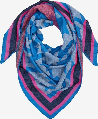 s.Oliver Tuch in blau / blaumeliert / pink, Produktansicht