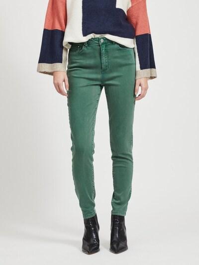 VILA Hose 'VIAMY HWSS PIGMENT DYE 7/8 PANTS' in dunkelgrün, Modelansicht