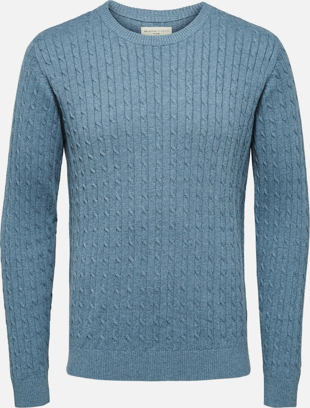 Selected Homme Strickpullover Zopfstrick
