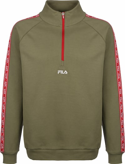 FILA Sweatshirt in khaki / rot, Produktansicht