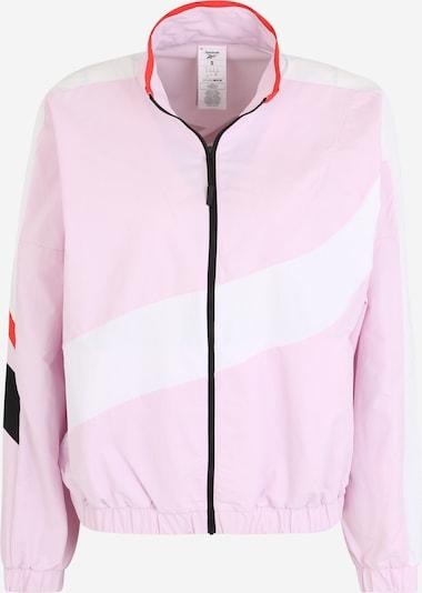 REEBOK Sportjas in de kleur Rosa / Rood / Zwart / Wit, Productweergave